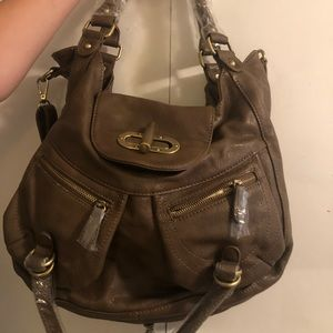 Melie Bianco brown leather purse